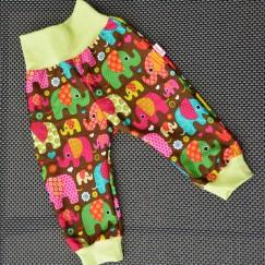 Plátěné kalhoty Sloníci hnědí