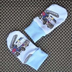 Bavlněné rukavičky Hasiči na modré
